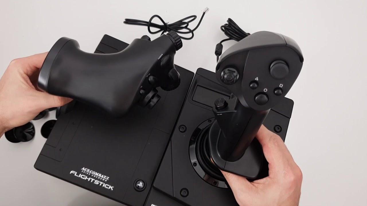 Hori Ace Combat 7 Hotas Flight Stick Playstation 4 Unboxing Youtube