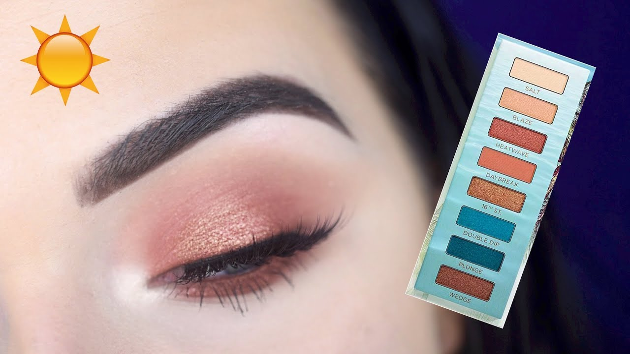 NEW URBAN DECAY BEACHED EYESHADOW PALETTE | Tutorial + Review