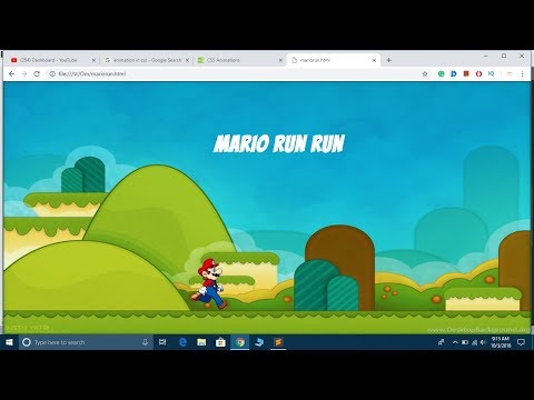 CSS3 Animation Tutorial In Hindi | Mario Game Using Animation In CSS Example