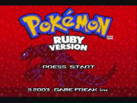 Pokemon Ruby Title Screen Music Youtube