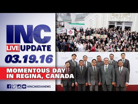Momentous day in Regina, Canada