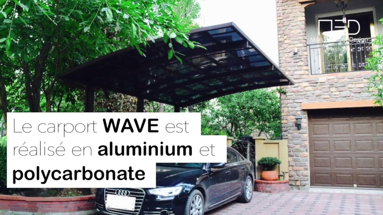 carport design wave aluminium