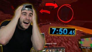 Коби реагира на най-бързият FSG Minecraft Speedrun РЕКОРД!