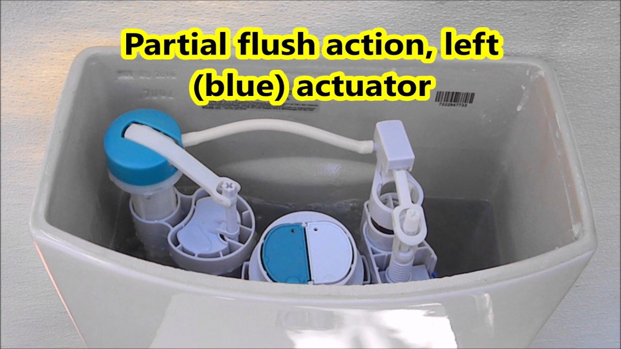 American Standard Dual Flush H2option Toilet Youtube