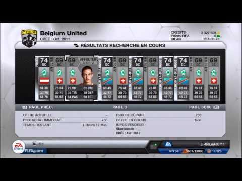 Fifa 13 Ultimate Team - Comment avoir du crédit? - Tuto Achat / Vente Spéciale Bundes et Serie A