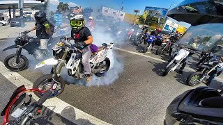 MOST INTENSE RIDEOUT EVER! COPS & CRASHES!!