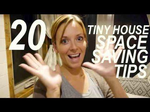 TWENTY TINY HOUSE Space Saving Tips Tour -in one take!