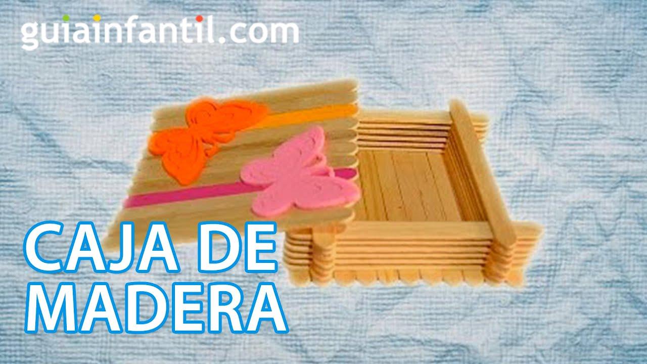 Caja de madera decorada manualidad de reciclaje youtube - Cajas madera para manualidades ...