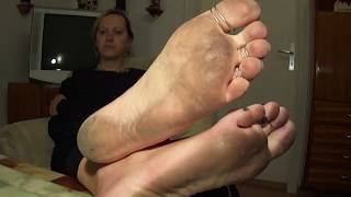 Dirty feet with toe rings (size 10)