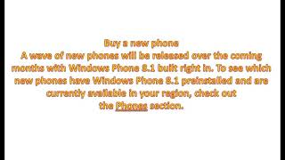 how to get windows phone 8 1