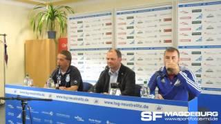 Pressekonferenz - TSG Neustrelitz gegen 1. FC Magdeburg 2:2 (0:1) - www.sportfotos-md.de