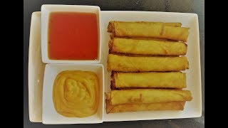 This Spring Roll Recipe is Different than Other! How, to, make, it, kook, eat, video