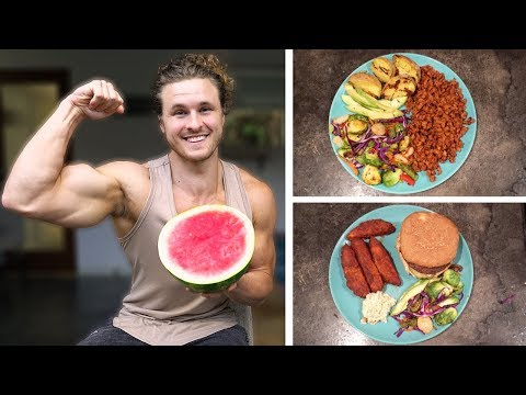 VEGAN FULL DAY OF EATING IN SELF ISOLATION | HIGH PROTEIN