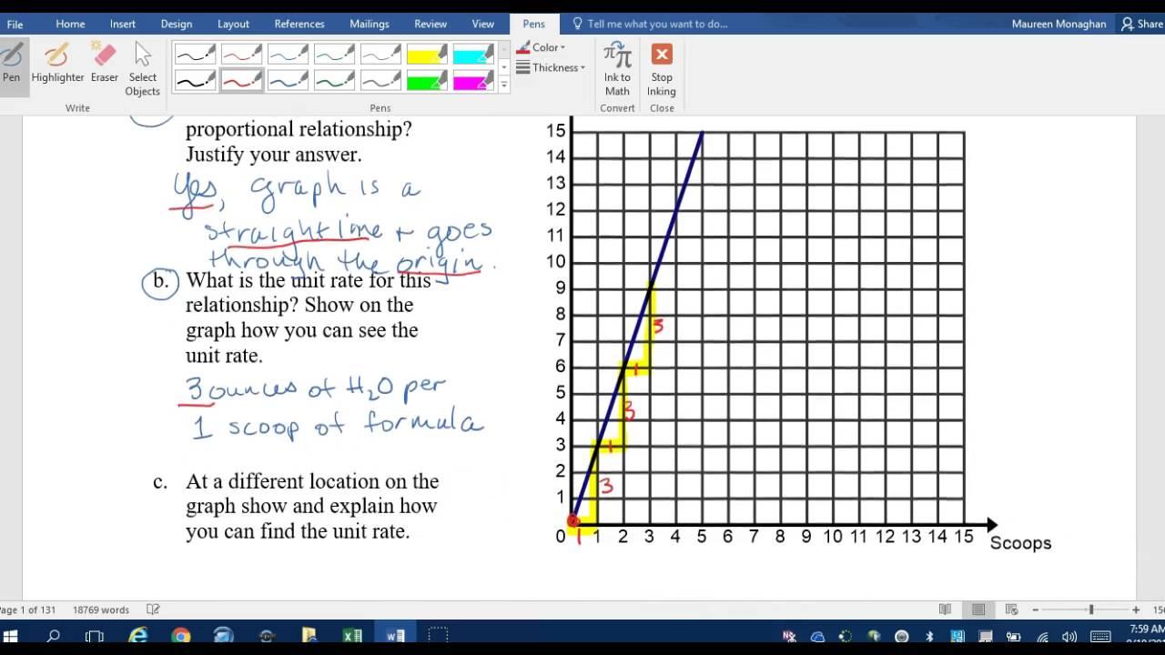 2.1a homework proportional relationships