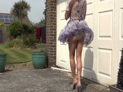 Up skirt on a windy day thumbnail