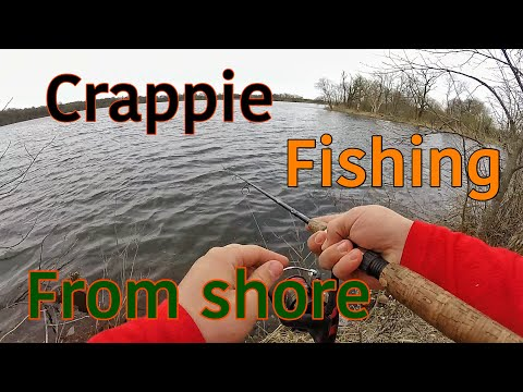 CRAPPIE Fishing From SHORE (Minnesota 2019)