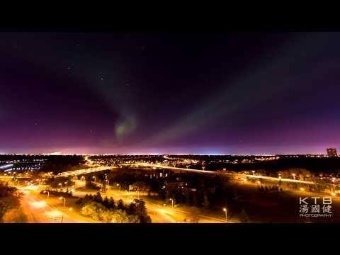 Northern Lights in Downtown Edmonton