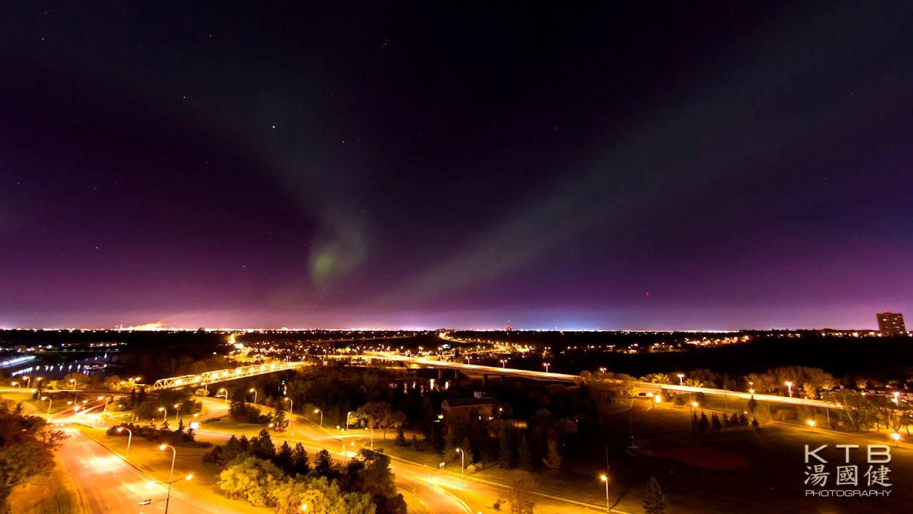 Northern Lights In Downtown Edmonton Youtube
