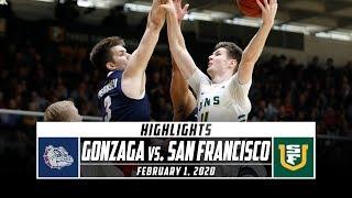 No. 2 Gonzaga vs. San Francisco Basketball Highlights (2019-20) | Stadium