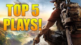 TOP 5 PLAYS OF THE WEEK #1 | Ghost Recon Wildlands PVP (Insane Killchain, Silent Pistol Ace & MORE!)