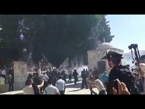 עימותים בין שוטרים למתפללים מוסלמים במתחם הר הבית