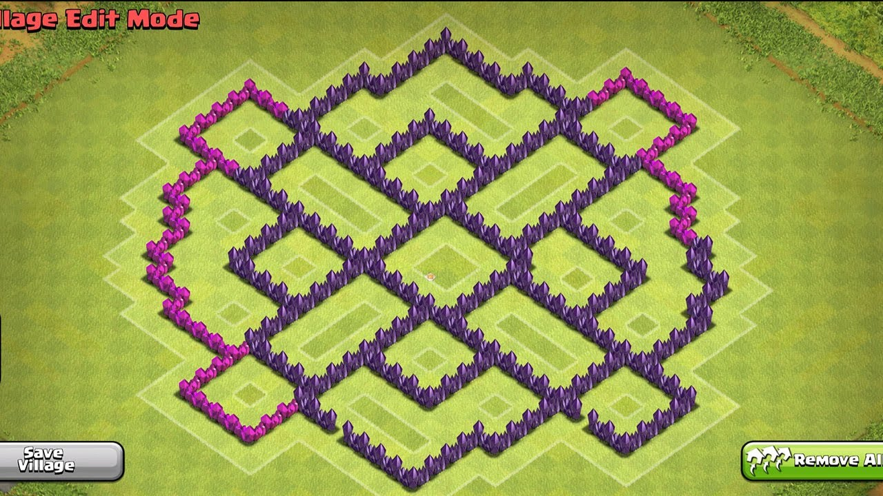 . town hall  hybrid base defense clash of clans  youtube