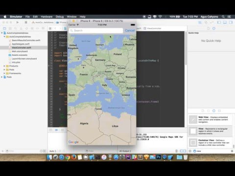Google Places Autocomplete API with Google Maps SDK on iOS With Swift