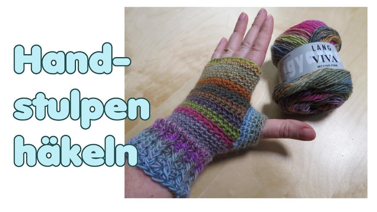 Einfache Handstulpen Häkeln Fingerlose Handschuhe Pulswärmer