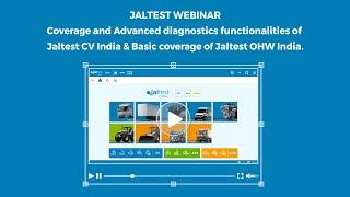 JALTEST WEBINAR | Jaltest India: Commercial Vehicles & Off-Highway Vehicles