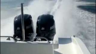 Prova a mare Resin Park 23 con 2 motori da 150 merciry