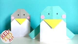 Easy Origami Penguin - Perfect Greeting Card too