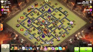 clash of clans th10 3star attack healer pekka hog