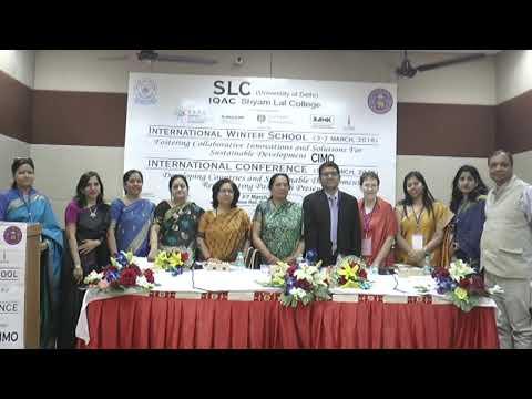 SLC (University of Delhi), International Winter School, Part-A(3/4) , 3rd March,2018