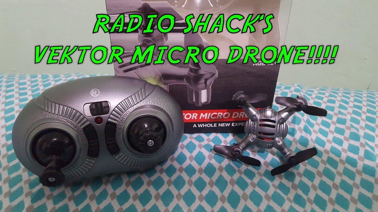 Unboxing of the Radio Shack Vektor Micro Drone!!!! Kinda Surprise Me
