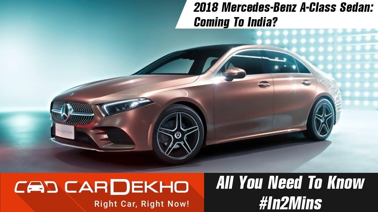 2018 Mercedes Benz A Class Sedan Details Specs Features