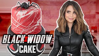 MARVEL BLACK WIDOW CAKE - NERDY NUMMIES