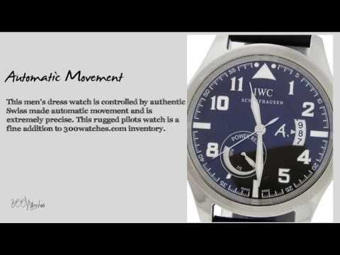 IWC Saint Exupery White Gold Automatic Power Reserve Limited Edition Watch
