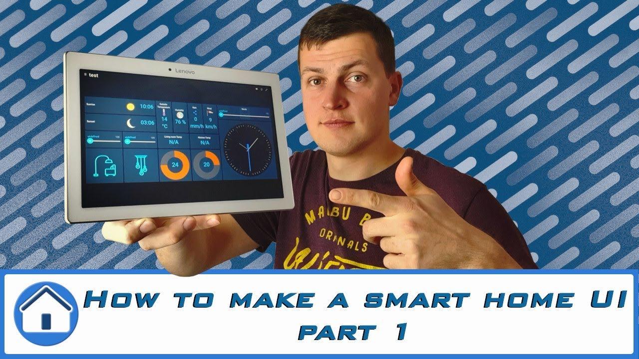 Smart home touchscreen - HABpanel - Part 1