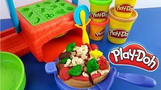 برم ن أعلى Play-Doh صنع البيتزا متجر Playset خدمة Unbox إنشاء & Play