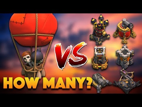How To Use Nerfed Loon: Balloon Vs All Defenses | Clash Of Clans