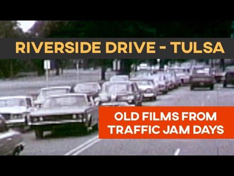 RIVERSIDE DRIVE TULSA - Early Rare Film Footage Of Traffic Jams   Tulsa History Series