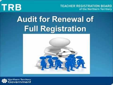 Audit for Renewal of Full Registration
