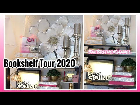 How To Decorate A Glam Bookshelf | Bookshelf Tour 2020