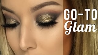 Go To Glam Tutorial ft Makeup Geek | Lustrelux
