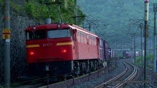 JR貨物 EF200-3号機+後補機EF67 1号機 貨物列車1070レ 瀬野→八本松 2013.5