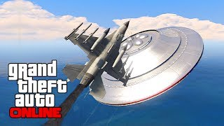 GTAV Online - ps3 - Chasing a UFO!? AWESOME! - 6/14/14