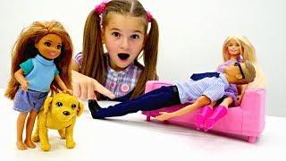 Видео для девочек - У Челси появилась собака. Игры Барби