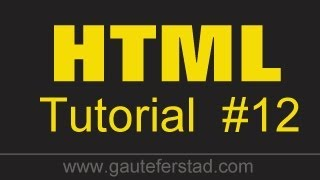 HTML Tutorial 12 Creating Bookmarks - Using a table of contents to link within the same page
