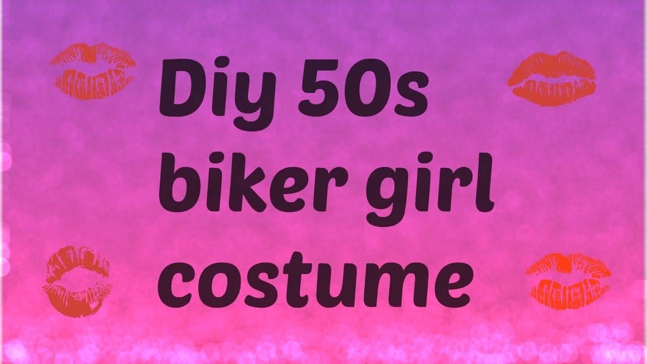 diy biker girl costume - youtube