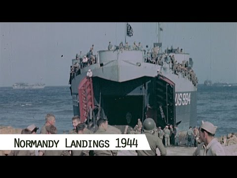 June 1944 - The Normandy Landings (in color and HD)